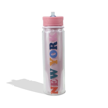 Retro New York Water Bottle, Drinkware - Mulberry and Grand