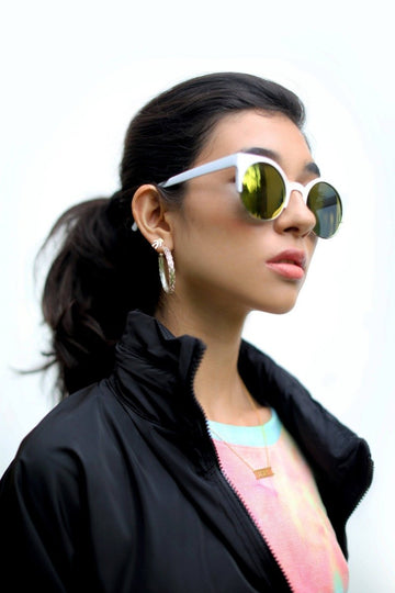 Rounded Block Party Sunglasses