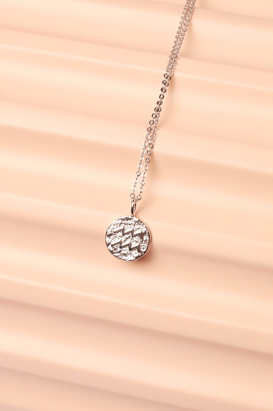Silver Zodiac Charm Necklace Necklace Mulberry & Grand Aquarius