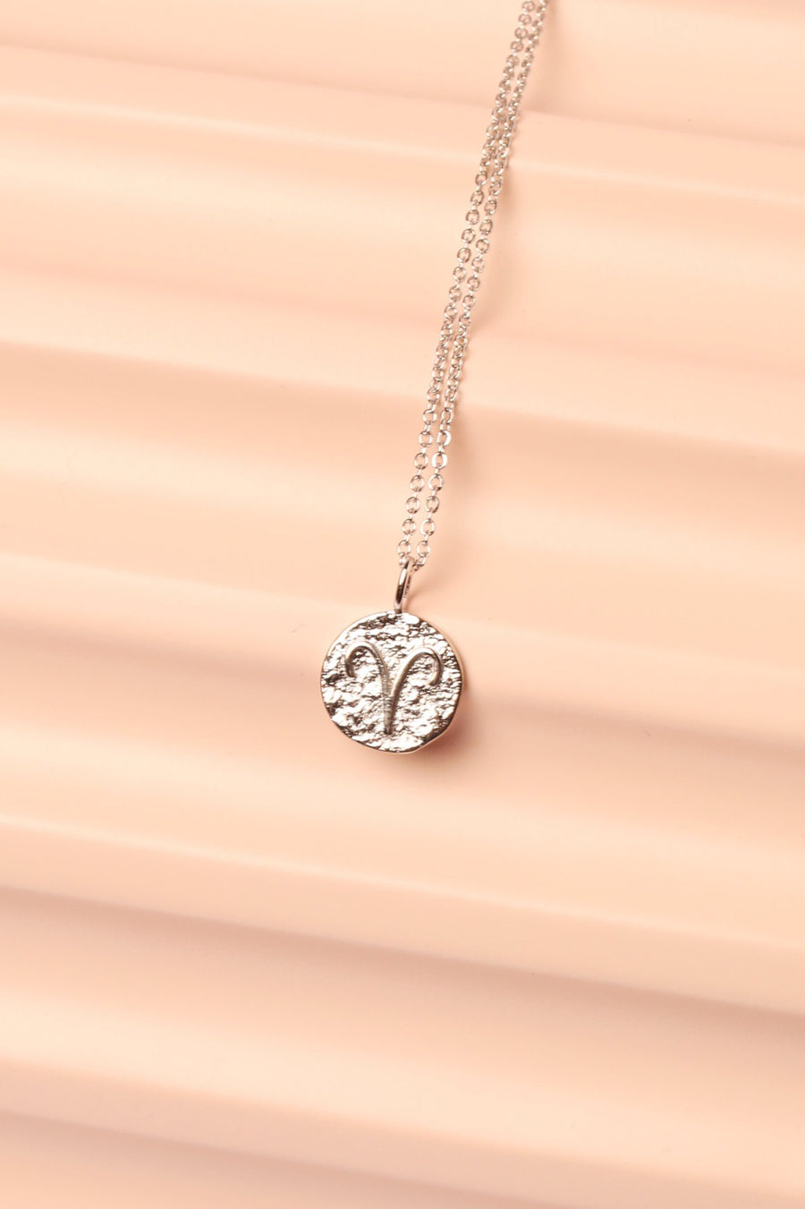Silver Zodiac Charm Necklace Necklace Mulberry & Grand Aries