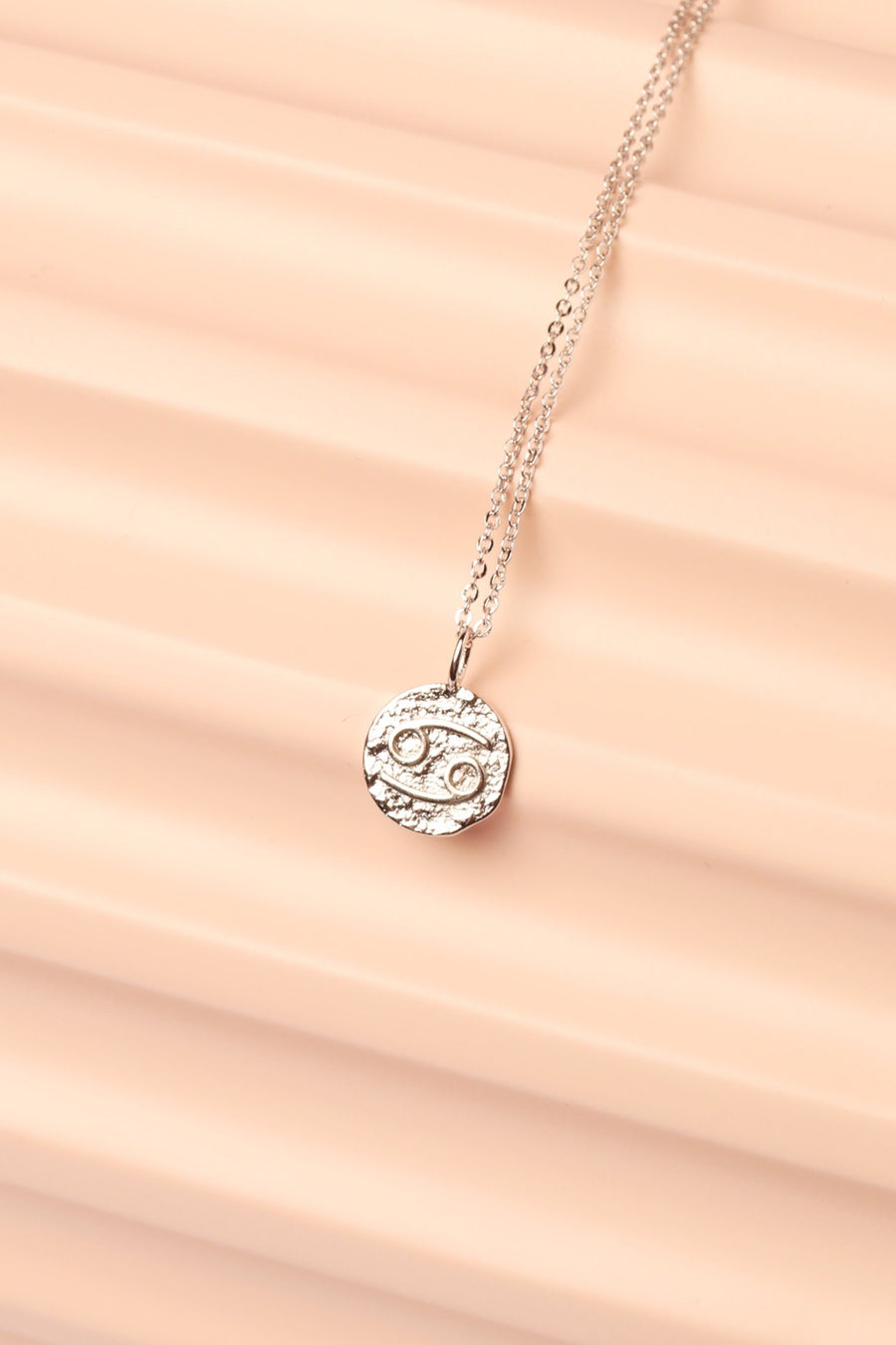 Silver Zodiac Charm Necklace Necklace Mulberry & Grand Cancer
