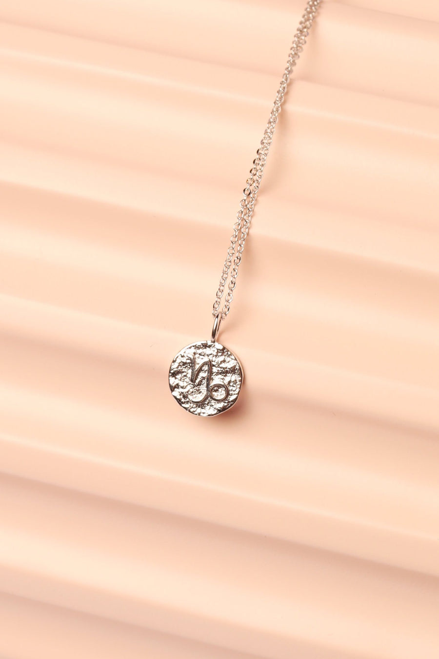 Silver Zodiac Charm Necklace Necklace Mulberry & Grand Capricorn