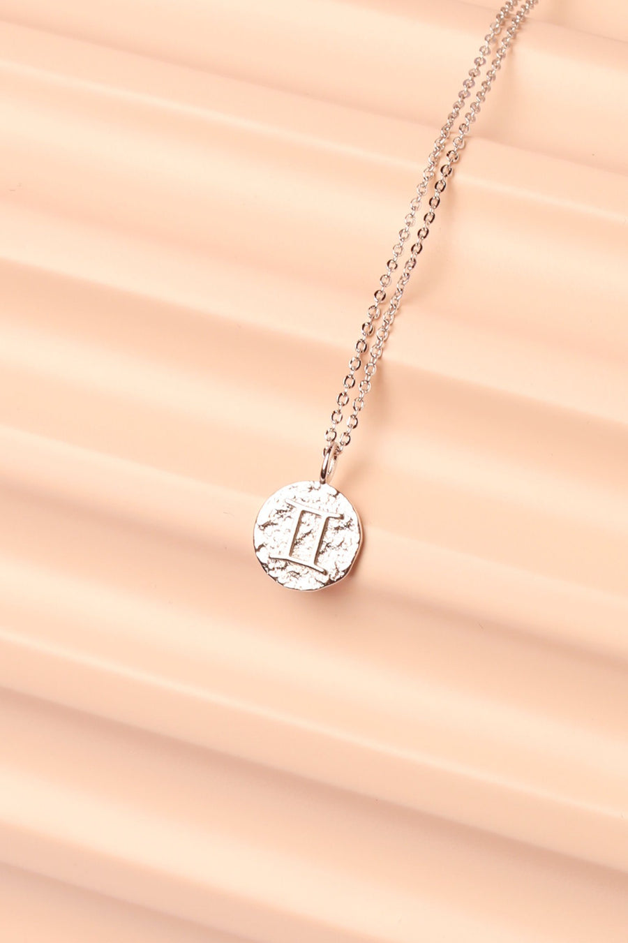 Silver Zodiac Charm Necklace Necklace Mulberry & Grand Gemini