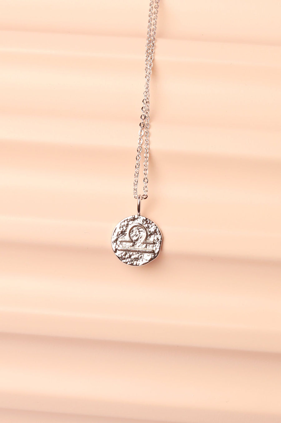 Silver Zodiac Charm Necklace Necklace Mulberry & Grand Libra