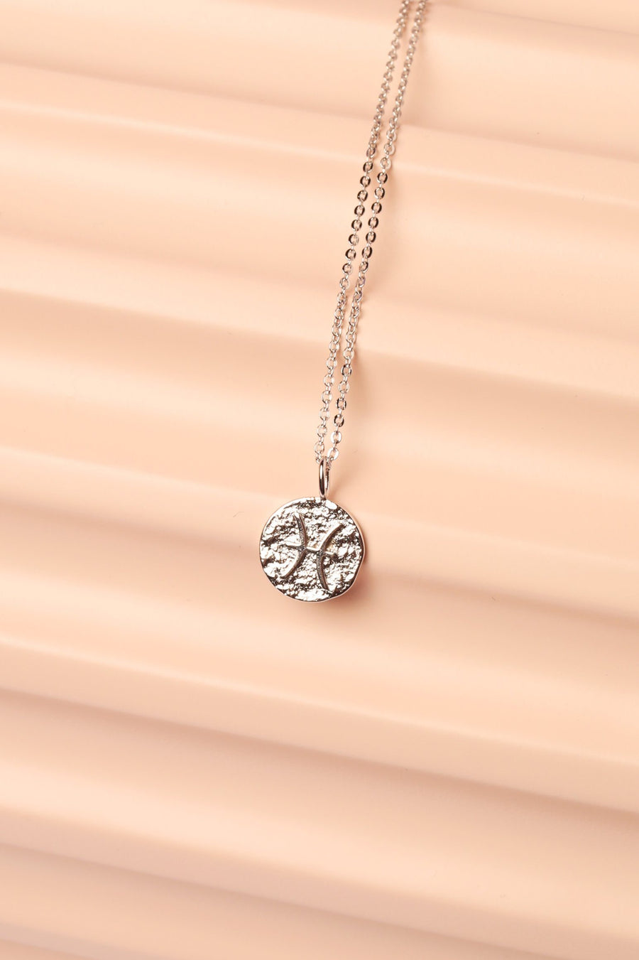 Silver Zodiac Charm Necklace Necklace Mulberry & Grand Pisces