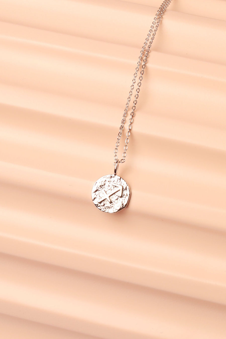 Silver Zodiac Charm Necklace Necklace Mulberry & Grand Sagittarius