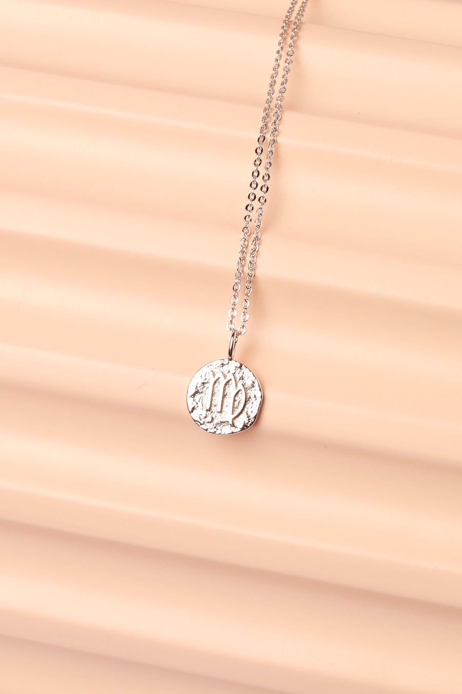 Silver Zodiac Charm Necklace Necklace Mulberry & Grand Virgo