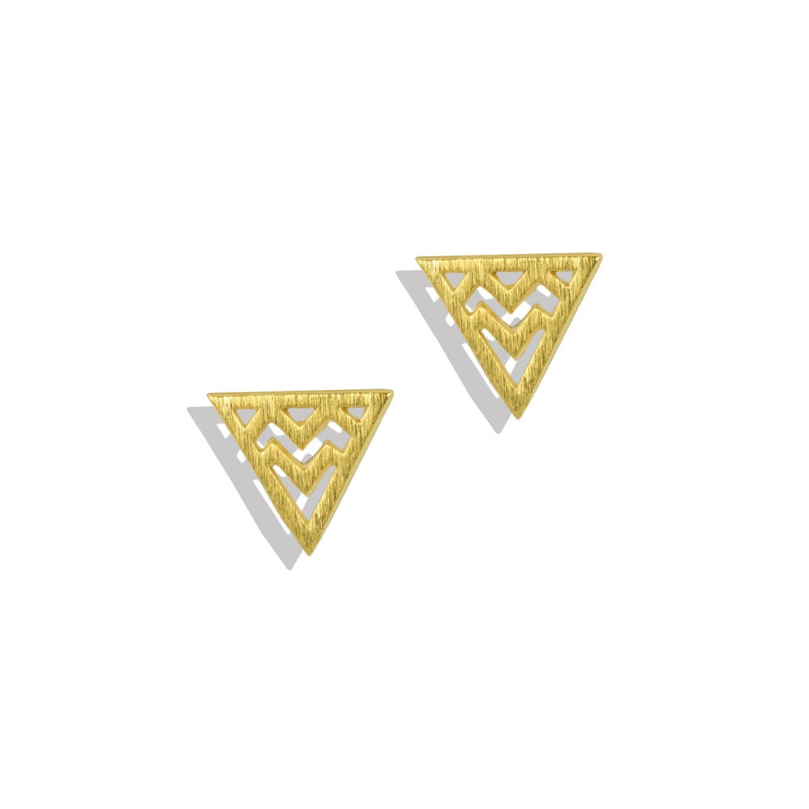 Squiggle Triangle Charm Earrings