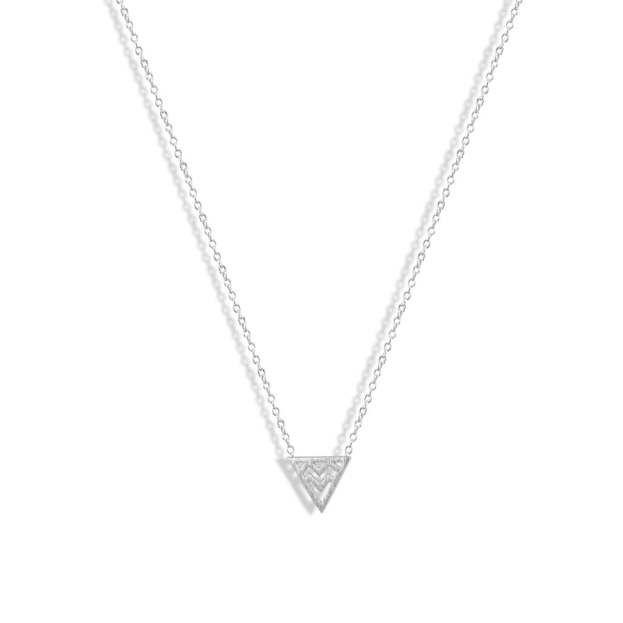 Squiggle Triangle Charm Necklace