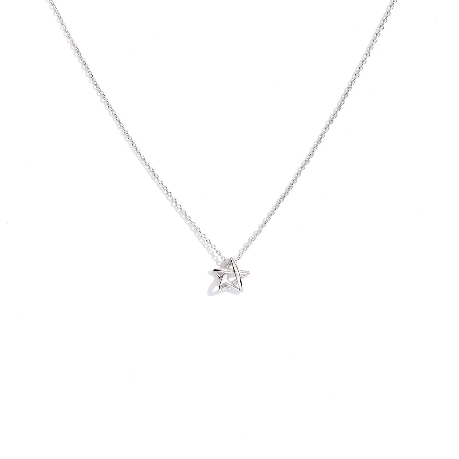 Star Drawing Charm Necklace