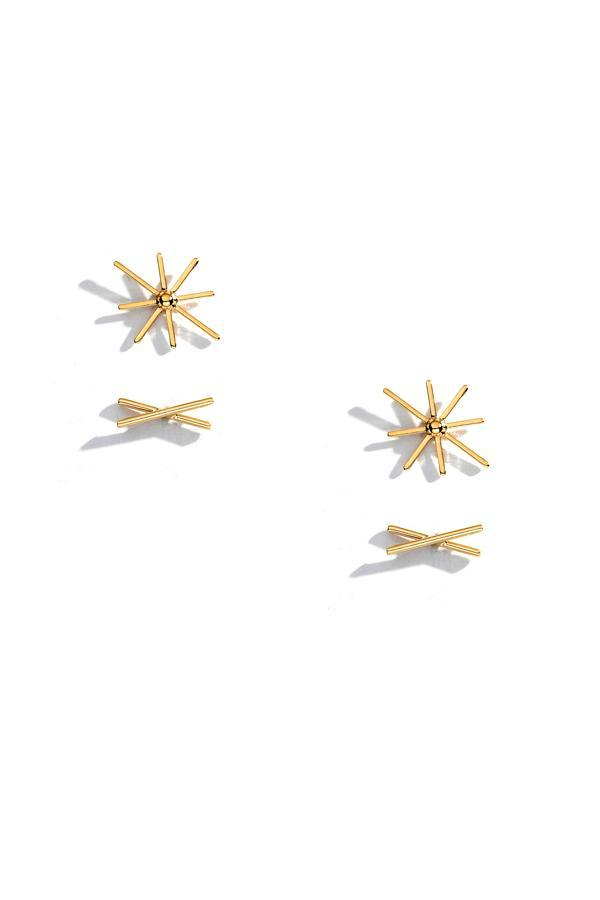 Starburst and Crisscross Stud Set