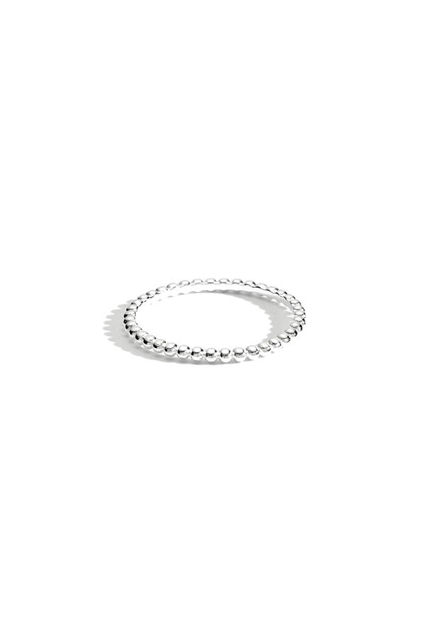Sterling Silver Bauble Thin Band Ring