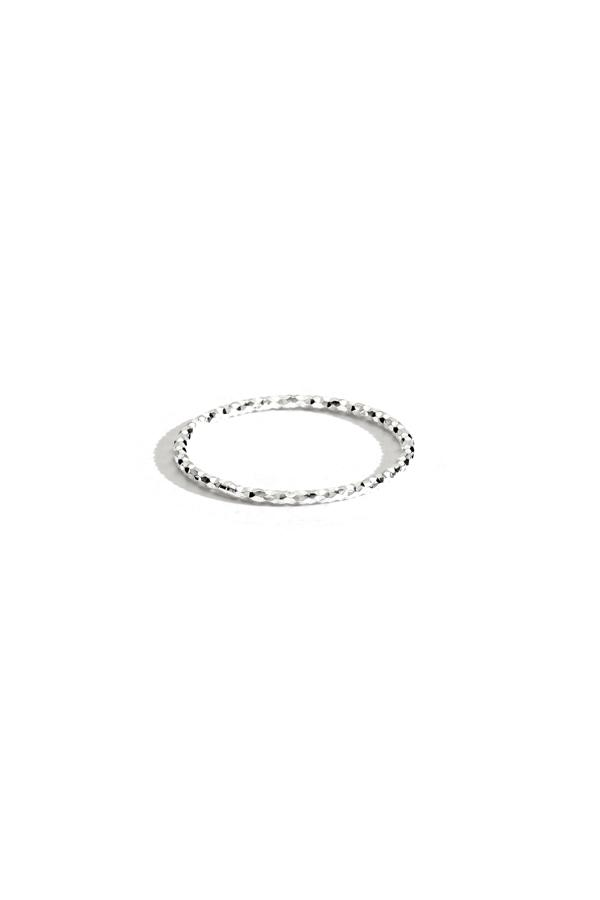 Sterling Silver Hammered Thin Band Ring