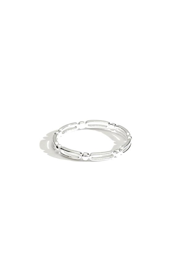 Sterling Silver Pattern Thin Band Ring