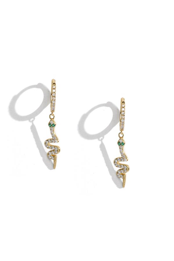 Sterling Silver Snake Charmer Earrings