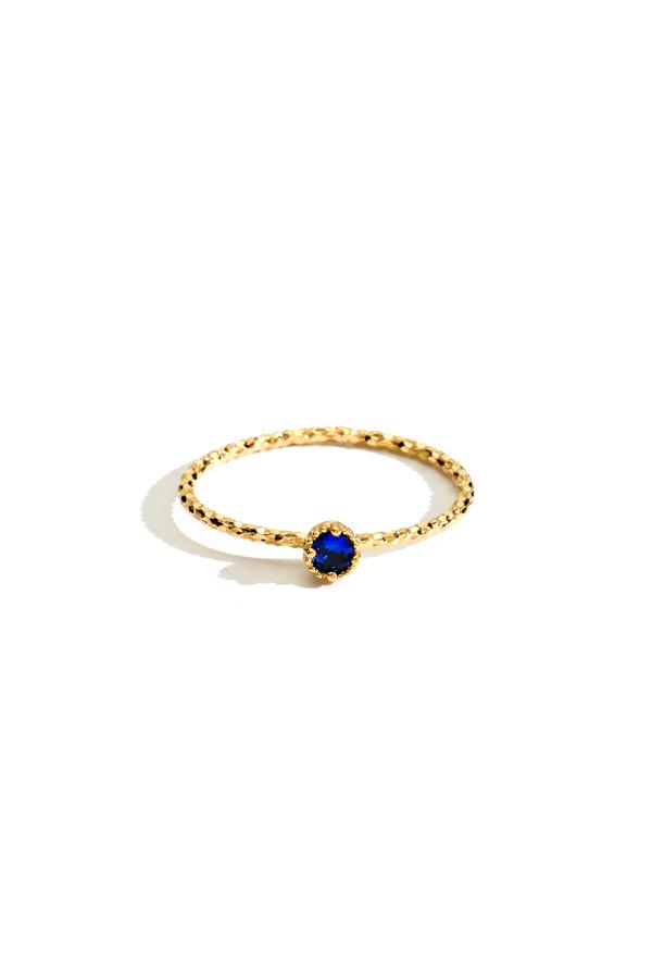 Sterling Silver Stone Ring in Gold
