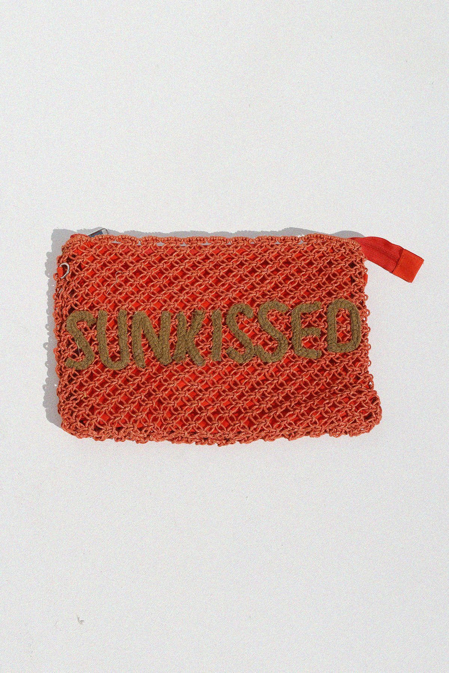 Sunkissed Jute Clutch Purse