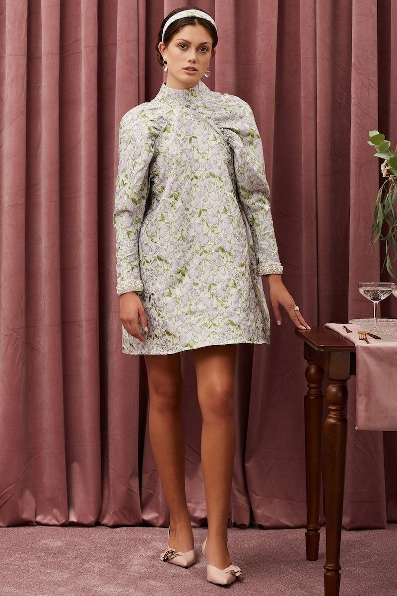 Table Talk Jacquard Mini Dress Clothing Sister Jane XS