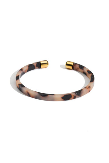 Tortoise Bangle with Gold Detail
