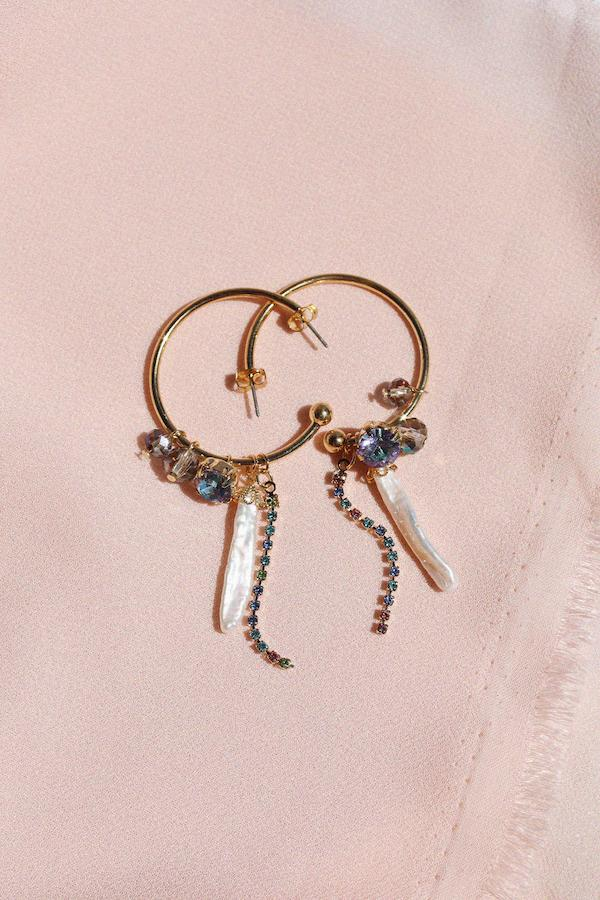 Willow Hoop Dangle Earrings