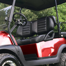 EZGO TXT w/ Custom Black Torino Series Seats from Golfcartseats.com