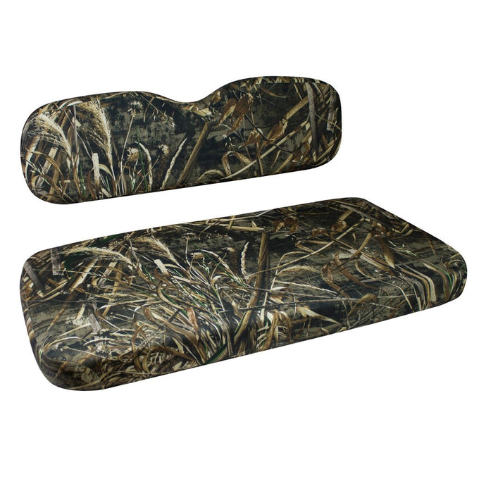 EZGO TXT Golf Cart Front Seat Complete Set: Camouflage Sewn - IN STOCK NOW!