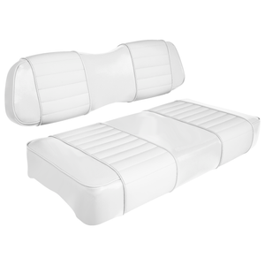 Club Car DS Series Golf Cart Seat Premium Designer Sewn - Solid White