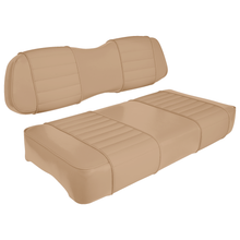 Club Car DS Series Golf Cart Seat Premium Designer Sewn - Solid Tan