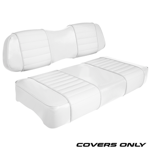 Club Car DS Series Golf Cart Seat Cover Set Premium Designer Sewn - Solid White