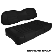 Club Car DS Series Golf Cart Seat Cover Set Premium Designer Sewn - Solid Black