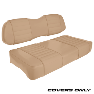 Club Car DS Series Golf Cart Seat Cover Set Premium Designer Sewn - Solid Tan