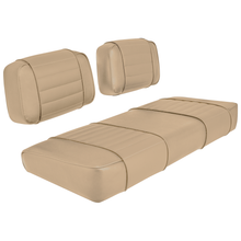 Club Car DS 79-99 Series Golf Cart Seat Premium Designer Sewn - Solid Tan