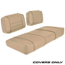 Club Car DS 79-99 Series Golf Cart Seat Cover Set Premium Designer Sewn - Solid Tan