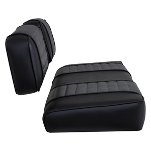 Club Car DS Series Old Style 79-99 Golf Cart Seat Cover Set Premium Designer Sewn - Side View