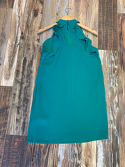 Green Dress with Ruffle