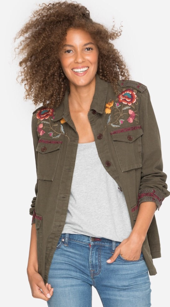 Bonnie Drawstring Military Jacket from Johnny Was