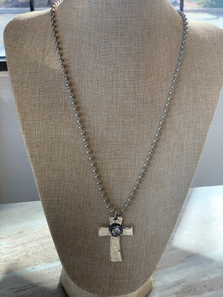 Cross bling necklace Paula Carvalho