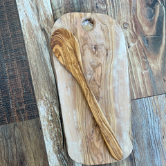 Olive Wood  Large Spoon 14""