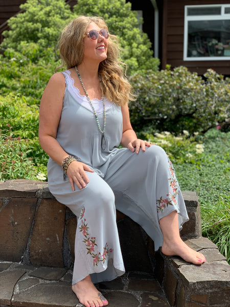 Floral Embroidered Jumpsuit