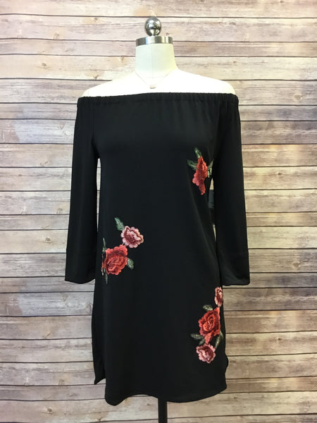 OTS Embroidered Dress