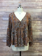 High Low Peasant Blouse