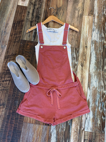 Clay Bib Short Overalls