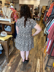 Animal Print collard dress