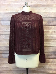 Mock Lace Top