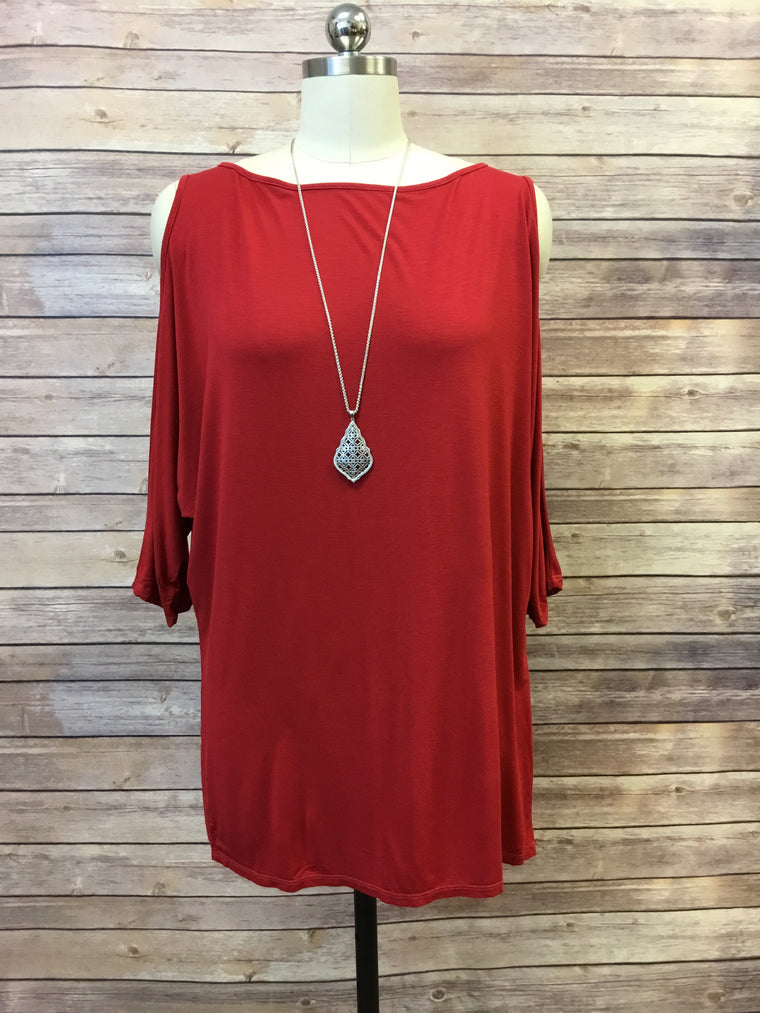 Cold Shoulder Tee (4 colors)