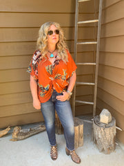 Sunset Floral Reversible Top
