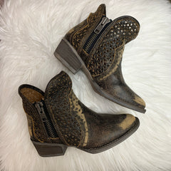 Black & Mustard Cut Out Boot