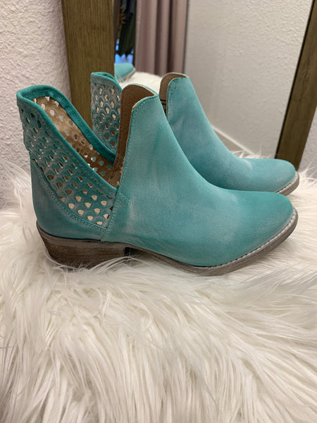 Corral Blue Shortie Boot