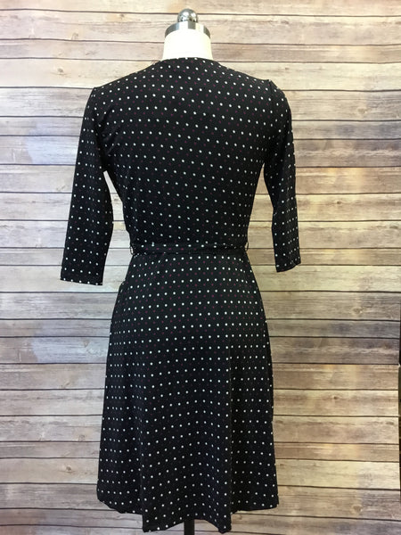 Star Print Wrap Dress