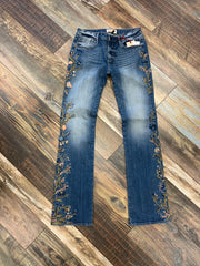 Kelly Bootcut with Embroidered Sides